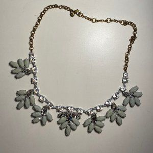 J. Crew Crystal Leaf Necklace